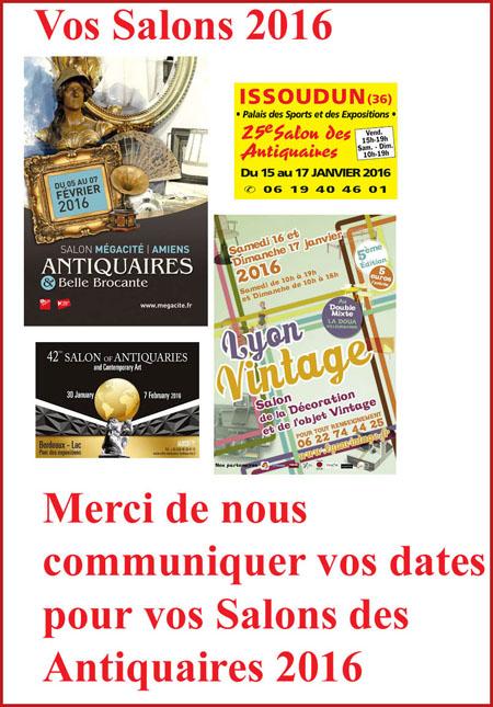 Agenda des salons des antiquaires deballages marchands for Salon des antiquaires